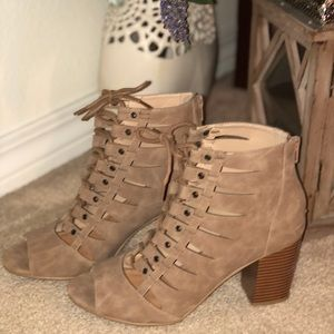 Rampage lace up booties